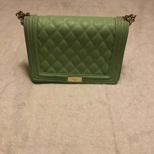 Green BCBG quilted purse